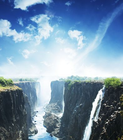 zambia: waterfall Victoria