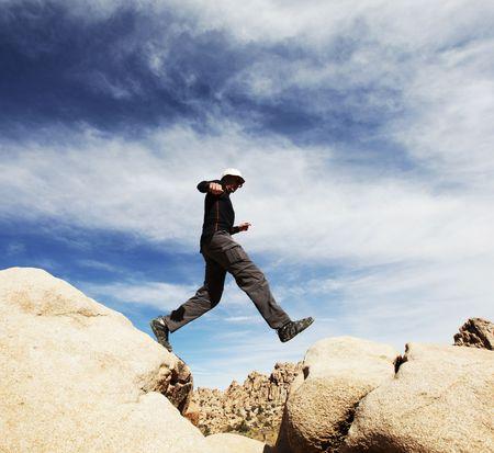 Jumping boy Stock Photo - 5958489