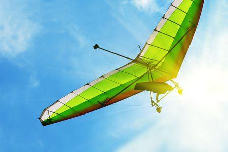 exhilarating: Hang glider
