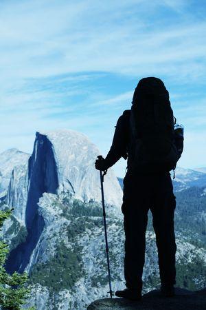 Hike in Yosemite mountains photo