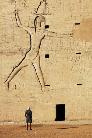 temple of Horus in  Edfu, Egypt. photo