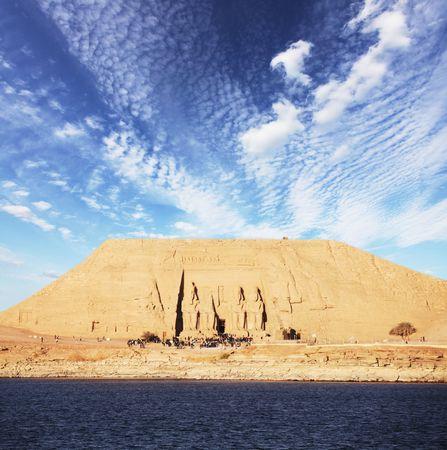 tomb in Abu-Simbel, Egypt photo