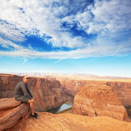 Horse-Shoe bend at Utah Stock Photo - 6580262