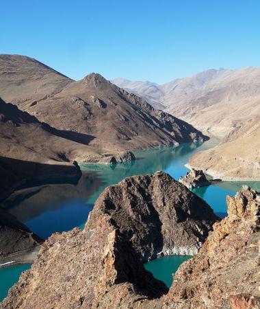 lake in Tibet photo
