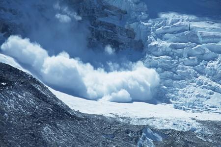 avalanche: avalanche in Himalaya