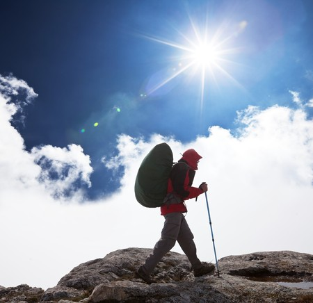 Hike in mountains Stock Photo - 6936863