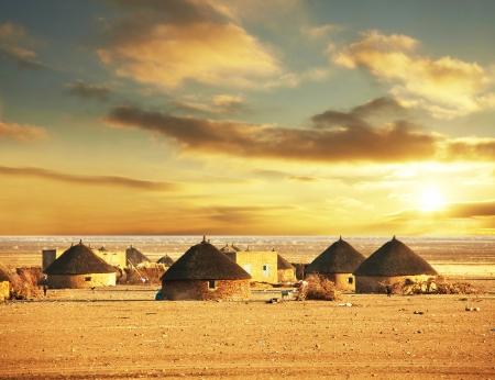 africa sunset: paesaggi africani