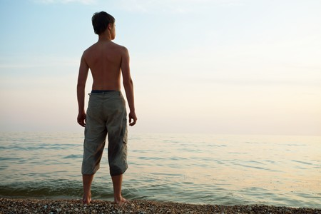 boy on the beach Stock Photo - 7225002