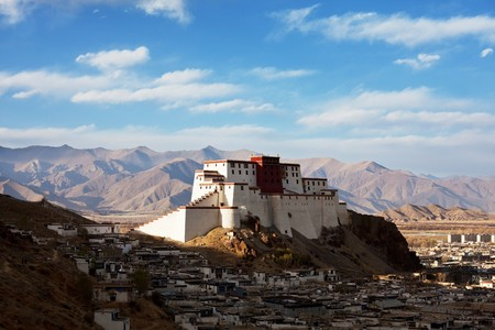 Shigatse monastery in Tibet Stock fotó