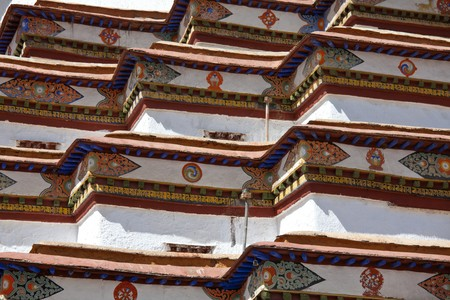 Shigatse monastery in Tibet photo