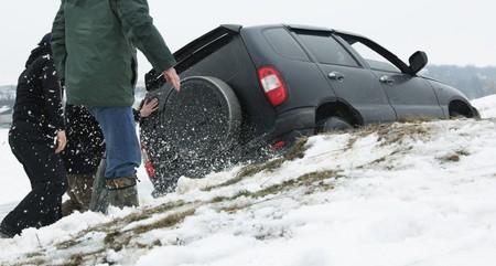car got stuck Reklamní fotografie - 7679864