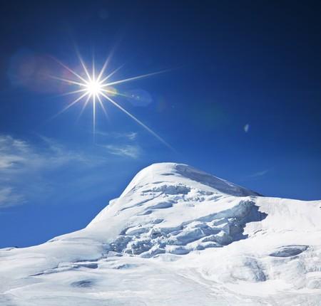 snow climbing: Mountains peak Cho Oyo