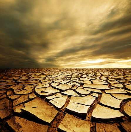 dryness: Drought land Stock Photo