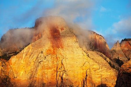 Cliffs in Zion national park photo