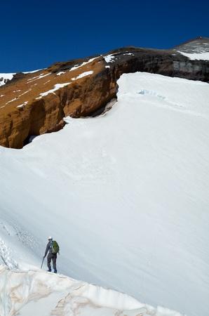 Climber on top photo