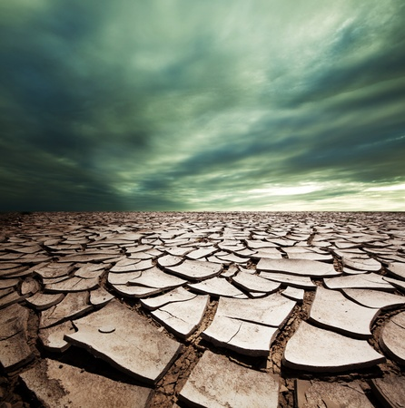barren: Drought land Stock Photo