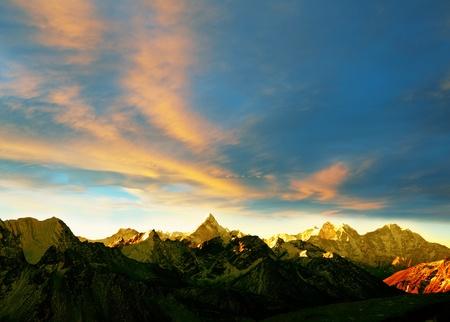 Mountains in Sagarmatha region,Himalaya Stock Photo - 8475372