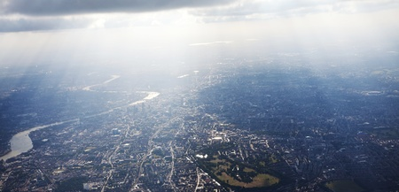aerial views: View of London from above