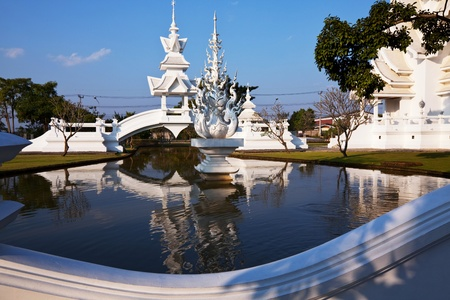 White temple in Chiang Rai province, Northern Thailand Stock Photo - 8964617