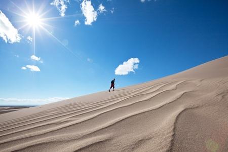 desert sun: Hike in Gobi desert