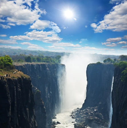 zambia: Victoria waterfall Stock Photo