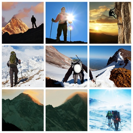 mountain man: Extreme climbing collage