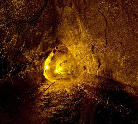 claustrophobia: lava tube Stock Photo