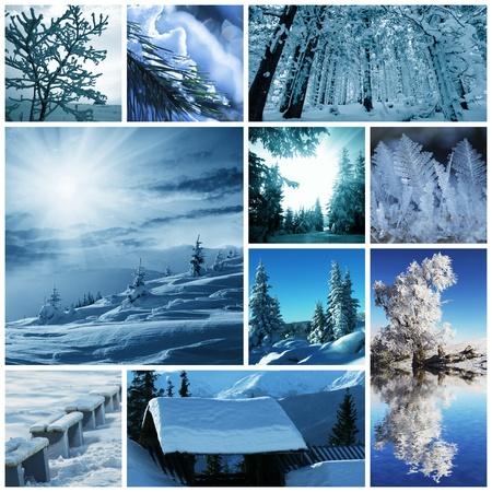 Winter collage photo
