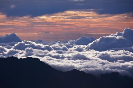 bove: View from Haleakala  on Hawaii island of Maui