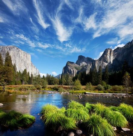 rivers mountains: yosemite landscapes Stock Photo