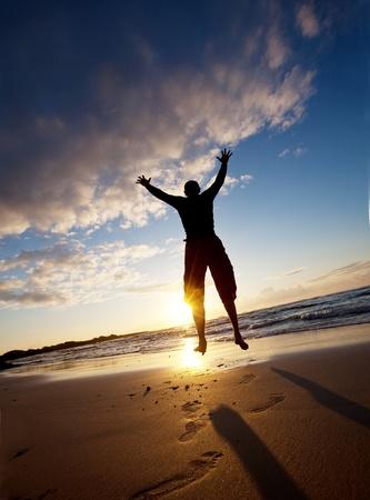 Jumping boy Stock Photo - 9795084