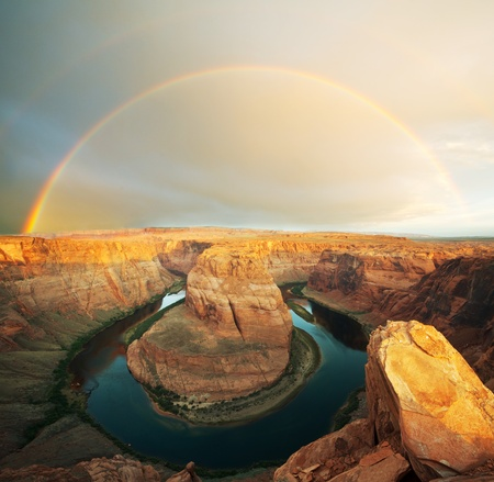canyon: Horse Shoe Bend Stock Photo