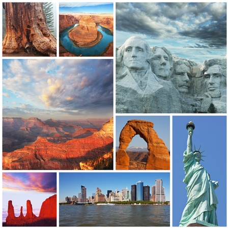 American landscapes collage photo