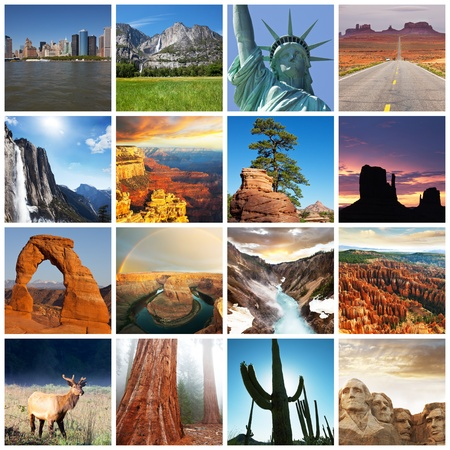 national monuments: American landscapes collage