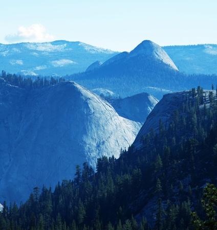 Retro photo Yosemite landscapes photo