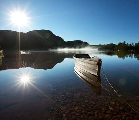ponder: boat on lake in Norway