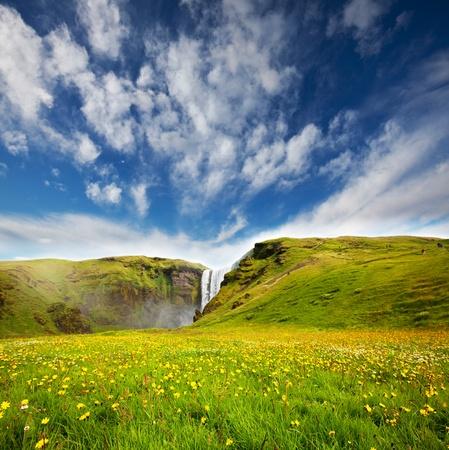 Scogarfoss waterfall,Iceland