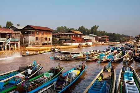 inle: Boat on Inle Lake,Myanmar