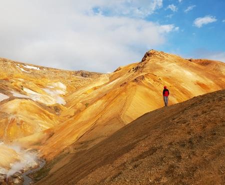 fumarole: Fumarola de campo en N�mafjall, Islandia
