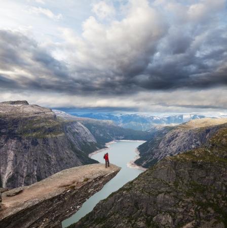 sea sports: Trolltunga in Norway