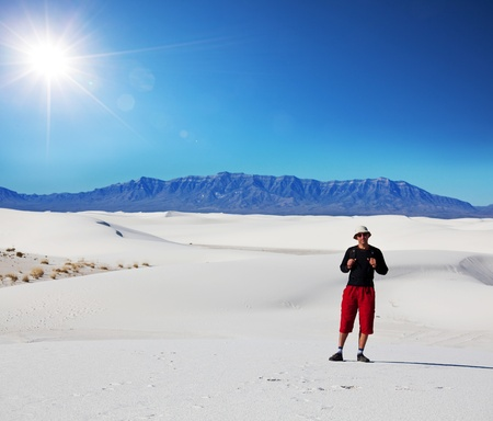 White Sands Park in USA Stock Photo - 10603845