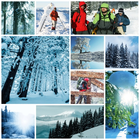 winter vacation collage Stock Photo - 10603929