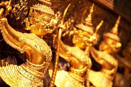 king of thailand: Golden garuda sculpture at Royal Palace, Bangkok,Thailand