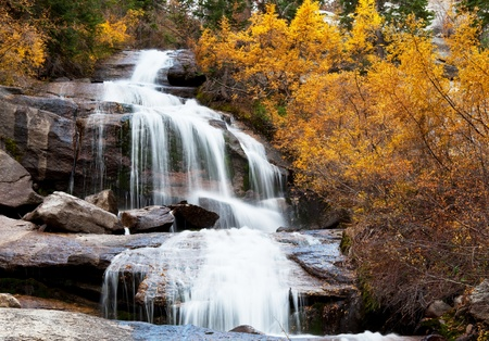 sierra nevada mountains: waterfall on Whitney Portal