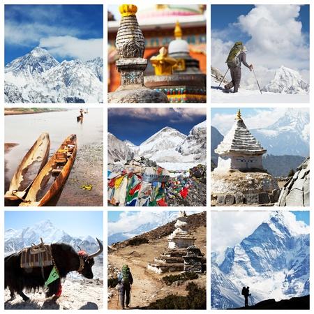 Nepal travel collage