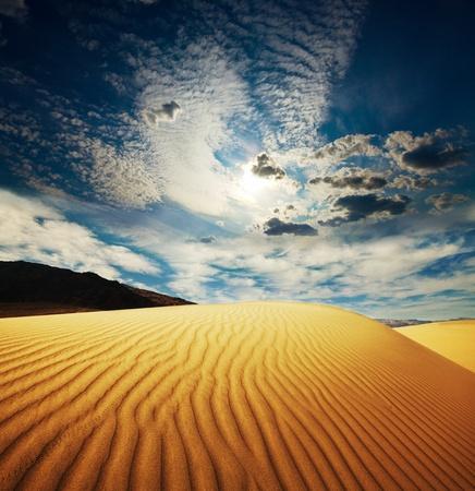 duna: El desierto del Sahara Foto de archivo