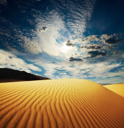 desierto: El desierto del Sahara Foto de archivo
