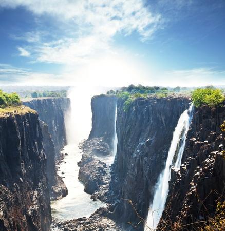 cascade mountains: Victoria waterfall Stock Photo