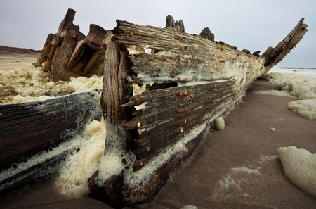 rote: Wreck on Sceleton coast,Namibia Stock Photo