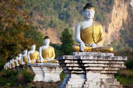 nirvana: Buddhas statue Stock Photo